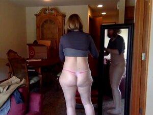 trata de ropa en la webcam, Milf trata de