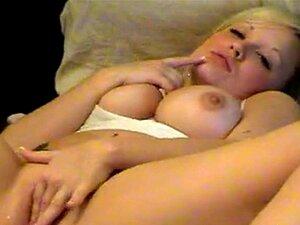 Tetona rubia adolescente masturba cuerpo caliente